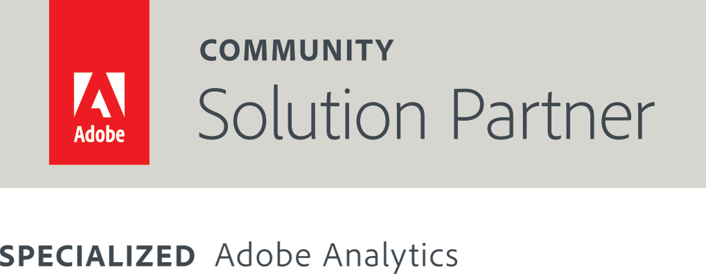 Adobe Solution Partner Community and Specialized Adobe Analytics Badge