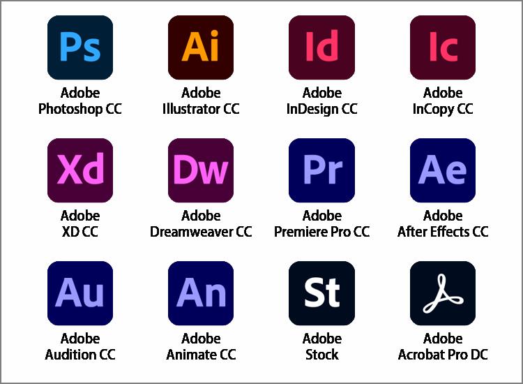 Adobe Creative Cloud 主なご利用可能サービス
